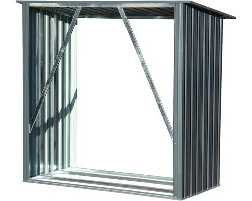 Abri à bûches dobar Madera 163 x 83 x 154 cm gris