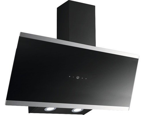 Hotte inclinée PKM S33-90A+BTH largeur 90 cm noir