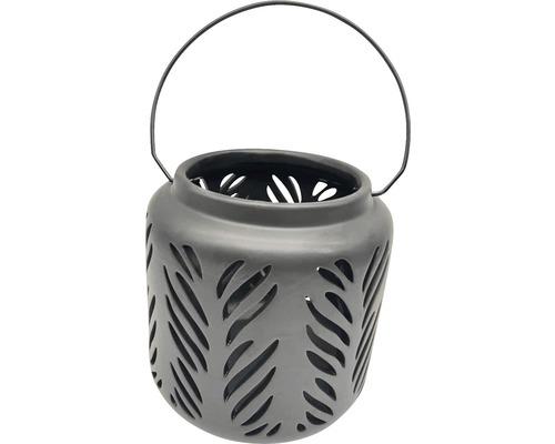 Lanterne H18,5cm noir