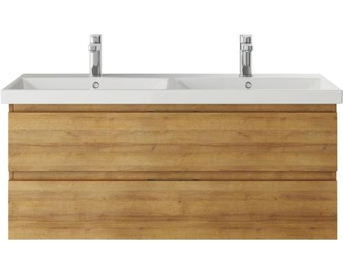Waschtischunterschrank pelipal Xpressline 4035 Breite 116 cm Eiche Riviera mit Grifffuge