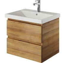 Waschtischunterschrank pelipal Xpressline 4035 Breite 56 cm Eiche Riviera mit Grifffuge-thumb-1