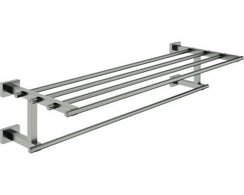 Multi-Badetuchhalter GROHE Essential Cube hard graphite gebürstet 40512AL1