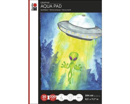 Marabu Aqua Pad GRAPHIX, DIN A4, 220g/m², 20 feuilles