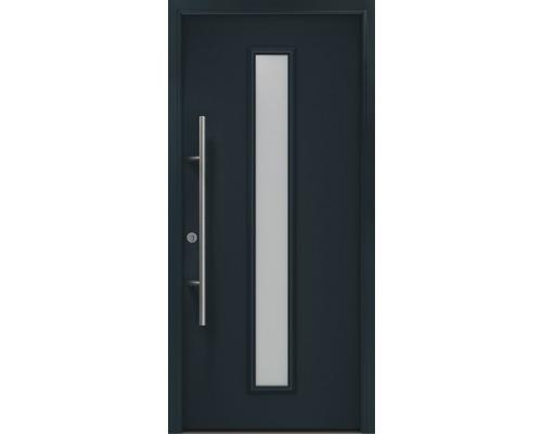 Porte d''entrée EcoStar ISOPRO Secur IPS 020S 110x210 cm tirant gauche RAL 7016 gris anthracite avec ensemble de ferrures, poignée barre en acier inoxydable, cylindre profilé de sécurité avec 5 clés