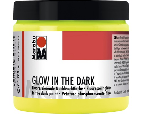 Marabu Glow in the dark, jaune phosphorescent 322, 200 ml