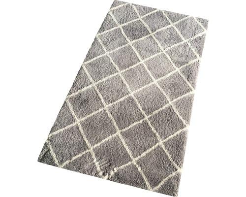 Tapis Shaggy losange Stream gris moyen 80x150 cm