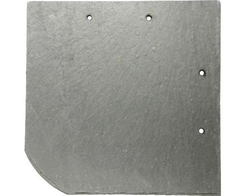 Dalle d''ardoise naturelle PRECIT anthracite arc rond 25 x 25 x cm (épaisseur 5-7mm)
