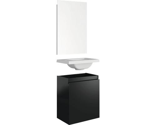Meubles de salle de bain invités Allibert PORTO 40 cm noir brillant