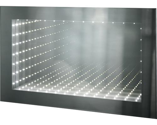 LED Infinity Badspiegel Barcelona 50x80 cm mit Schalter IP 44 (fremdkörper- und spritzwassergeschützt)