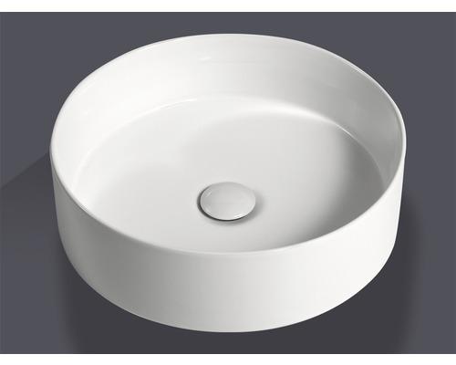 Vasque à poser Jungborn IMION 40 cm blanc avec bonde de vidage en céramique