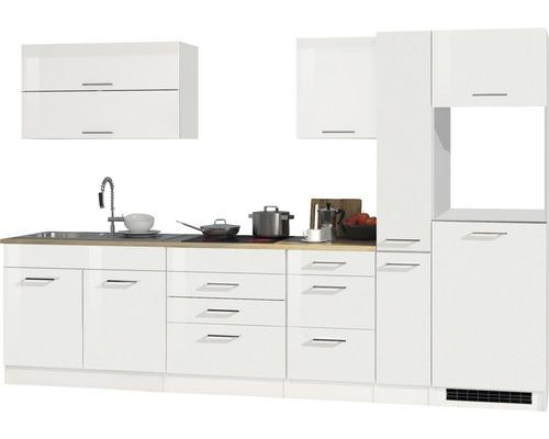Cuisine complète non équipée Held Möbel Mailand 320 cm blanc haute brillance sans appareils électriques 615.1.6210-0