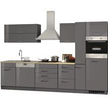 Cuisine complète Held Möbel Mailand graphite à haute brillance 330 cm avec électroménager 623.1.6211-thumb-3