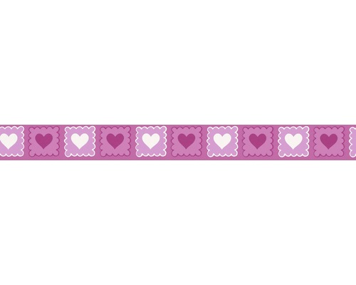 Frise Stick Up`s Cœurs rose fuchsia 5m x 5.3cm