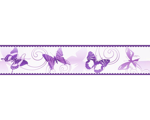 Frise Only Borders 8 Papillons lilas 5 m x 10,6 cm