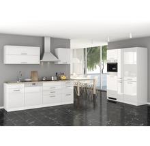 Küchenzeile Held Möbel Mailand 390 cm weiß hochglanz inkl. E-Geräte 638.1.6210-thumb-0