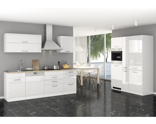 Cuisine complète Held Möbel Mailand 390 cm blanc haute brillance avec électroménager 638.1.6210