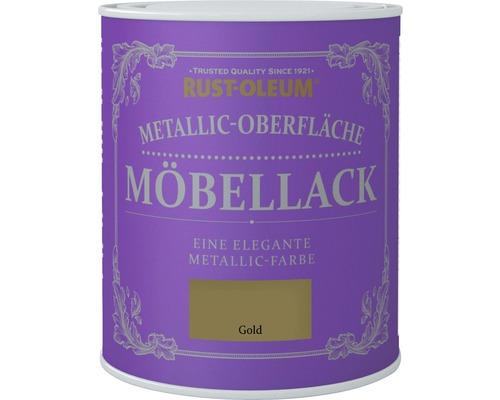 Vernis pour meuble métallique or 750 ml