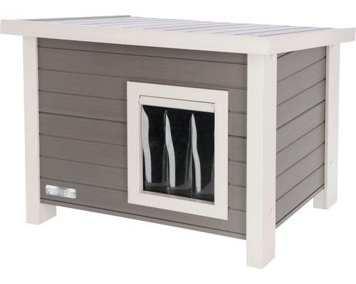 Maison pour chats Eco Eli 57x45x43cm gris