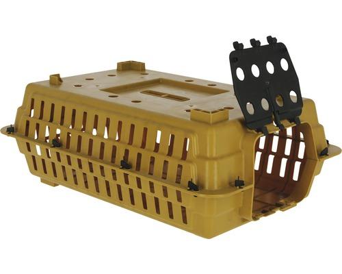 Boîte de transport pour volaille 60x29x22cm brun