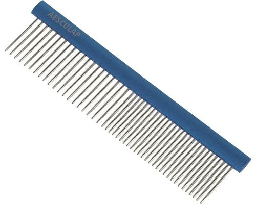 Peigne à fourrure Aesculap avec poignée bleu 148x40 mm