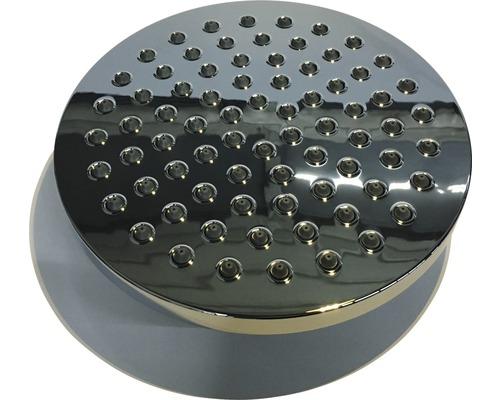 Pommeau de douche haut rond chromé avec raccordement DE111