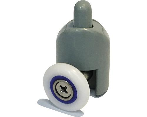 Roulettes de porte Aurlane simples bas gris 4 pièces DE142