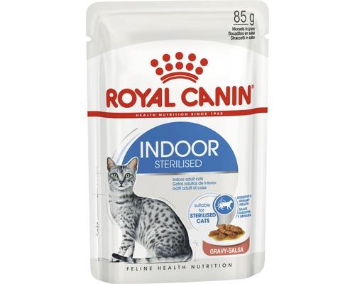 Nourriture humide pour chats ROYAL CANIN Indoor Sterilised en sauce 1 pack 12x85 g