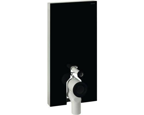 Bâti-support Geberit Monolith Plus pour WC à poser 101 cm avec coude de raccordement P, raccordement d'eau latéral 131.203.SJ.5 noir