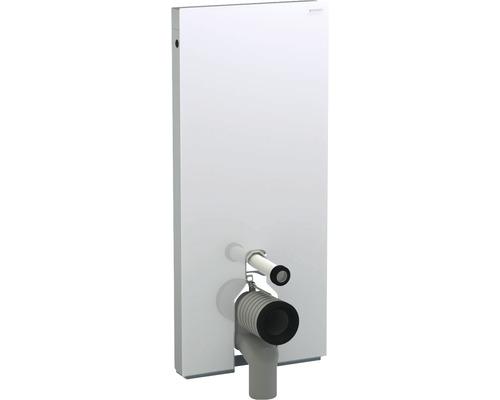 Bâti-support Geberit Monolith pour WC à poser 101 cm avec coude de raccordement P, raccordement d'eau latéral 131.033.SI.5 blanc