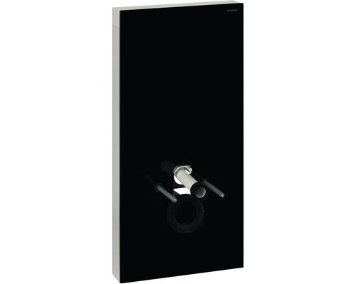 Bâti-support GEBERIT Monolith Plus pour WC suspendu 101 cm avec manchon de raccordement, raccordement d'eau latéral 131.222.SJ.5 noir