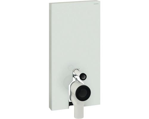 Bâti-support Geberit Monolith Plus pour WC à poser 101 cm avec coude de raccordement P, raccordement d'eau latéral 131.203.SI.5 blanc