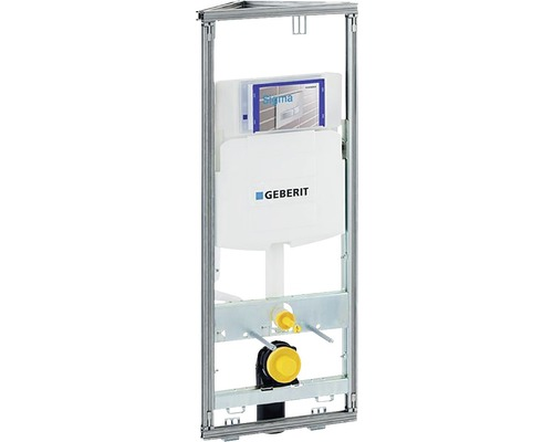 WC suspendu Geberit GIS module d''angle min. 114 cm avec réservoir de chasse d''eau encastré Sigma 12 cm 461.303.00.5