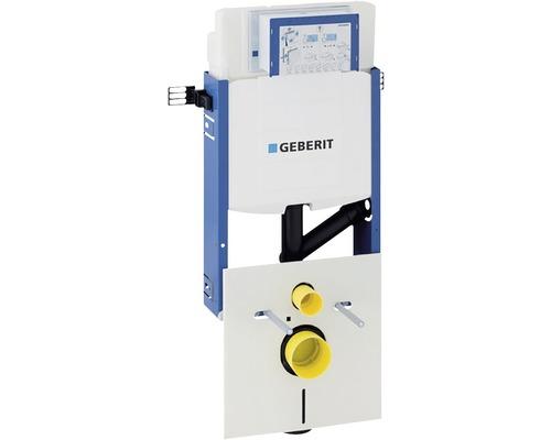 Bâti-support pour WC suspendu Geberit Kombifix 108 cm, avec réservoir de chasse d'eau à montage encastré Sigma 12 cm pour l'aspiration des odeurs réglable en profondeur pour un actionnement par l'avant 110.367.00.5