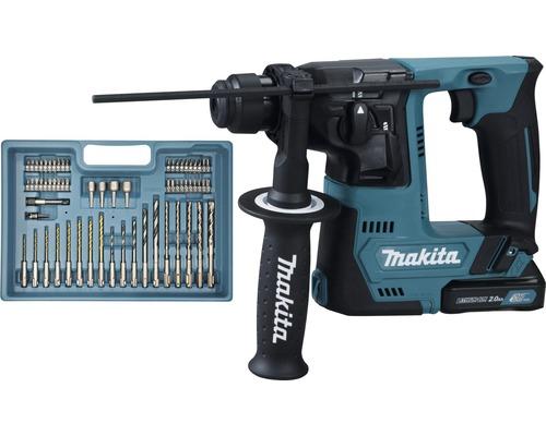 Marteau perforateur sans fil Makita HR140DSAE1 12V, 2 batteries, chargeur et accessoires inclus