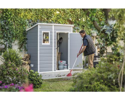 Abri de jardin, remise à outils KETER Manor Pent 6x4 avec plancher 175 x 103 cm gris