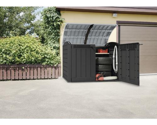 Abri à vélos, cache-poubelle Store-it-out Ultra Keter avec ressorts pneumatiques 177 x 113 x 134 cm anthracite