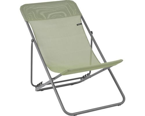 Chaise longue Lafuma Maxi Transat acier vert mousse