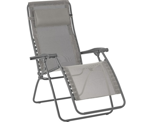 Chaise longue de relaxation Lafuma RSXA clip acier boue