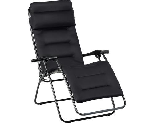 Chaise longue de relaxation Lafuma RSXA clip acier anthracite