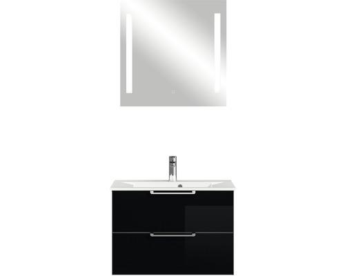 Ensemble de meubles de salle de bains Pelipal Xpressline 3065 verre noir 80 cm avec miroir
