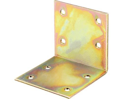 Angle large 60x60x60mm, jaune galvanisé, 1 unité