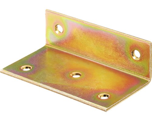 Angle large 40x25x75mm, jaune galvanisé, 1 unité