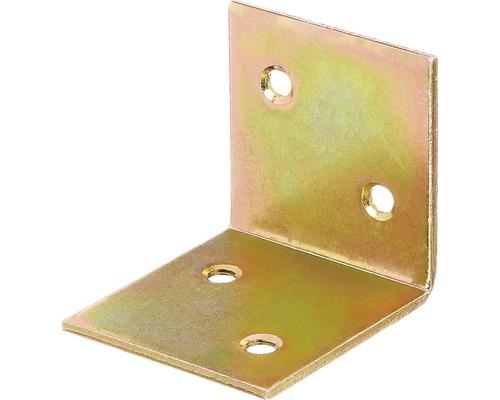 Breitwinkel 40 x 40 x 40 mm, galv. gelb verzinkt, 1 Stück