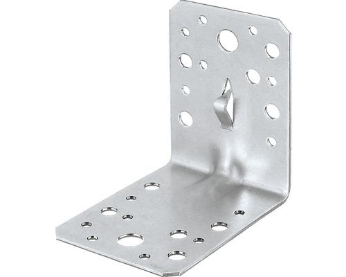 Winkelverbinder m. Sicke u. Fixierkralle 90 x 90 x 65 mm, sendzimirverzinkt, 1 Stück