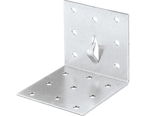 Lochplattenwinkel m. Fixierkralle 60 x 60 x 60 mm, sendzimirverzinkt, 1 Stück