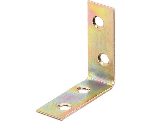 Équerre de chaise 40x40x15mm, jaune en acier galvanisé, 1 unité