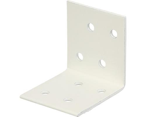 Winkelverbinder 40 x 40 x 40 mm, weiß kunststoffbeschichtet, 1 Stück
