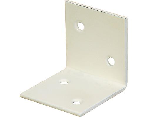 Angle large 40x40x40mm, blanc avec un revêtement en plastique, 1 unité