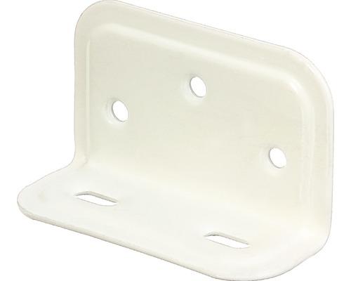 Angle large gaufré 70x40x25mm, blanc avec un revêtement en plastique, 1 unité