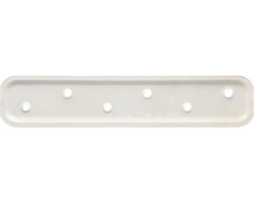 Flachverbinder geprägt 180 x 40 mm, weiß kunststoffbeschichtet, 1 Stück